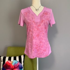 Adidas Pink Camo Climacool Athletic Tee D2
